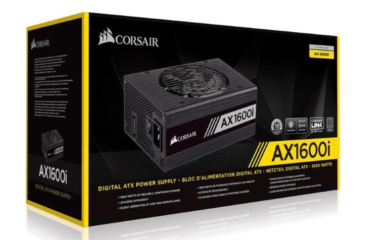 Corsair 1600W AX 80+ Platinum Digital Fully Modular 140mm FAN ATX PSU 10 Years Warranty.