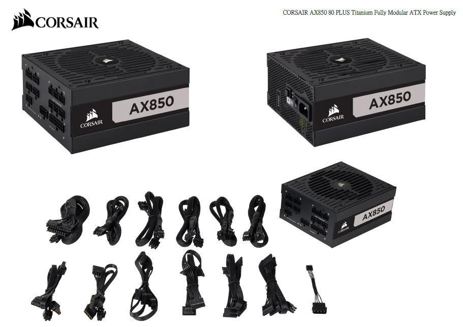Corsair 850W AX 80+ Titanium Fully Modular ATX Power Supply 10 Years Warranty