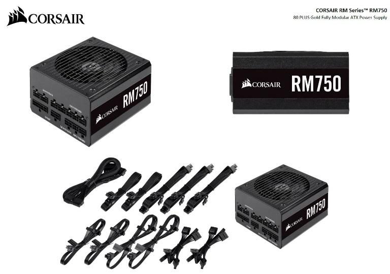 Corsair 750W RM 80+ Gold Fully Modular 135mm FAN ATX PSU 10 Years Warranty