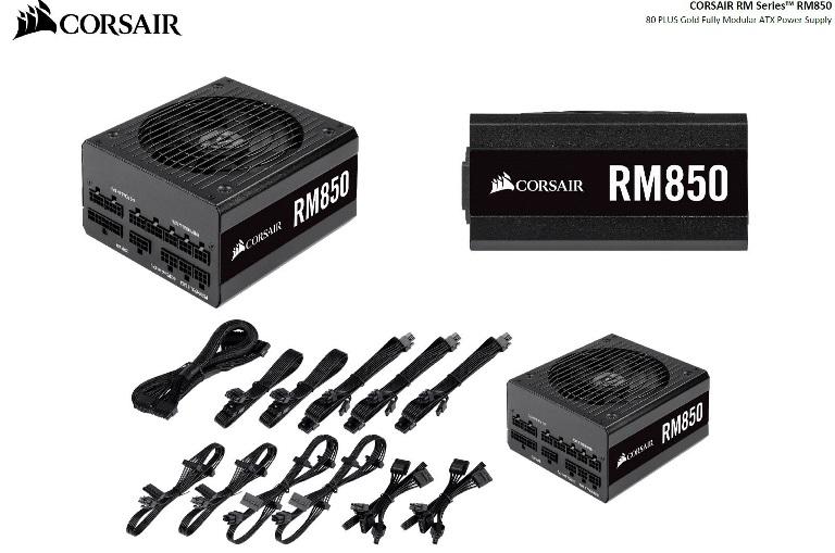 Corsair 850W RM 80+ Gold Fully Modular 135mm FAN ATX PSU 10 Years Warranty