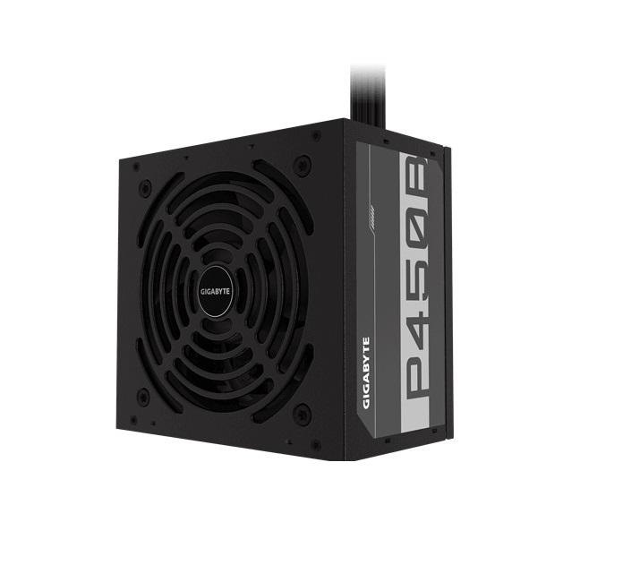 Gigabyte GP-P450B 450W ATX PSU Power Supply 80+ Bronze >85% 1x8pin Non-modular 120mm Fan Black Cables Single +12V Rail >100K Hrs MTBF