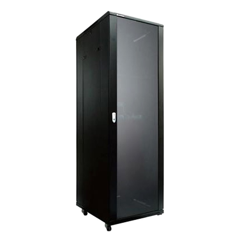 LinkBasic 42RU 600mm Depth Server Rack Glass Door with 2x240v Fans and 8-Port 10A PDU
