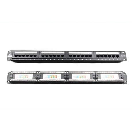 LinkBasic 24 Port Cat6 Patch Panel Rack Mount
