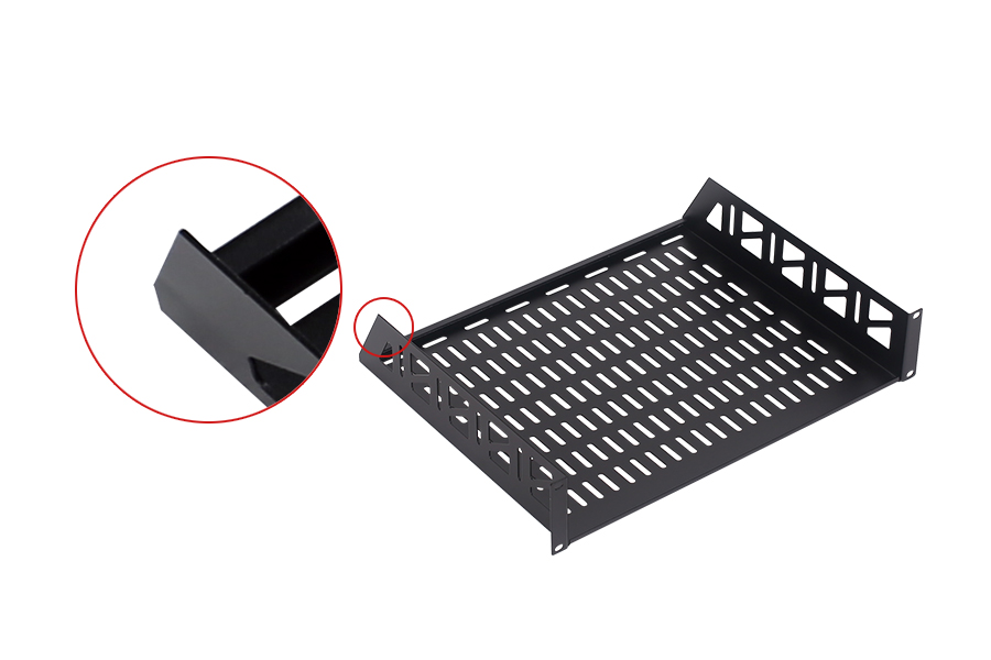 SharkRack Cantilever 2RU 375mm Deep Fixed Shelf Suitable with 19' 450mm Deep Cabinet only