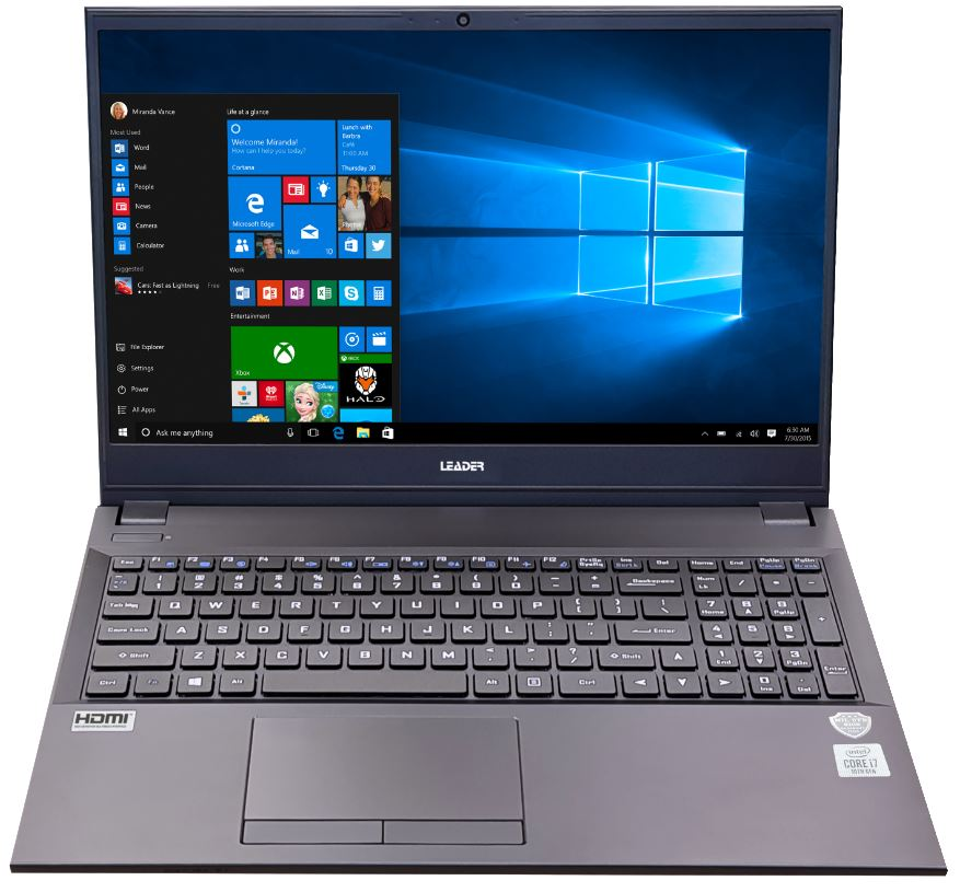 Leader Companion 508PRO Notebook, 15.6' Full HD, Intel I5-10210U, 8GB, 500GB SSD, DVD, Windows 10 Professional, 2 Year Warranty, USB type C, W10P
