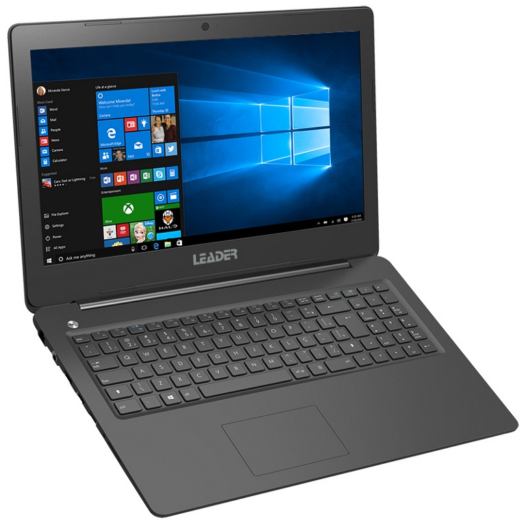 Leader Companion 526 Notebook, 15.6' HD, Intel I5-6200U CPU, 8GB memory, 480G BSSD, Windows 10 Professional, 2 years warranty, HD Camera, Black