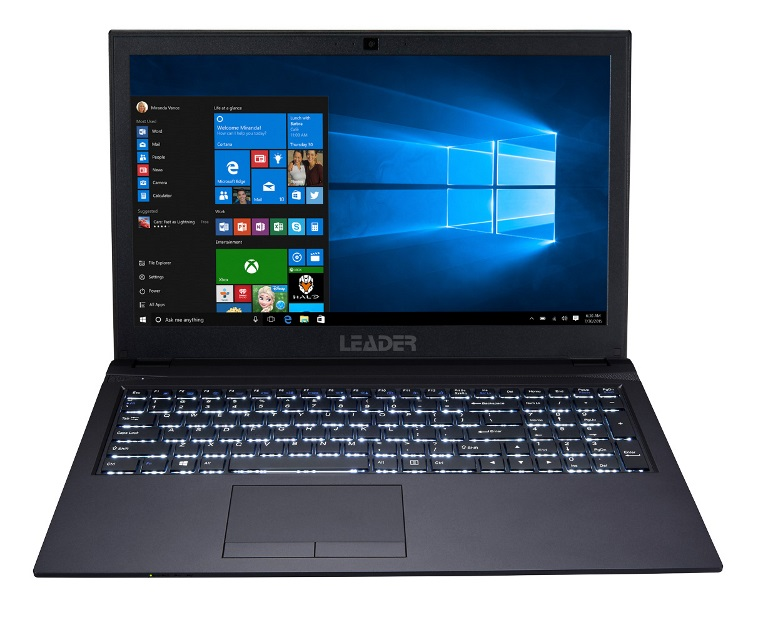 Leader Companion 567 Notebook, 15.6' Full HD, Intel i7-8550U, 8GB, 500GB SSD, Nvidia 2GB MX150, DVD, Windows 10 Home, 2 Year Warranty, backlit, USB C