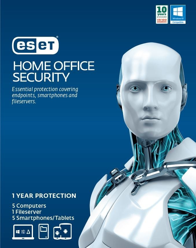 ESET Home Office Security Pack – 5 Endpoints, 5 Android, 1 File Server, 1Y Digital Key Printed Card