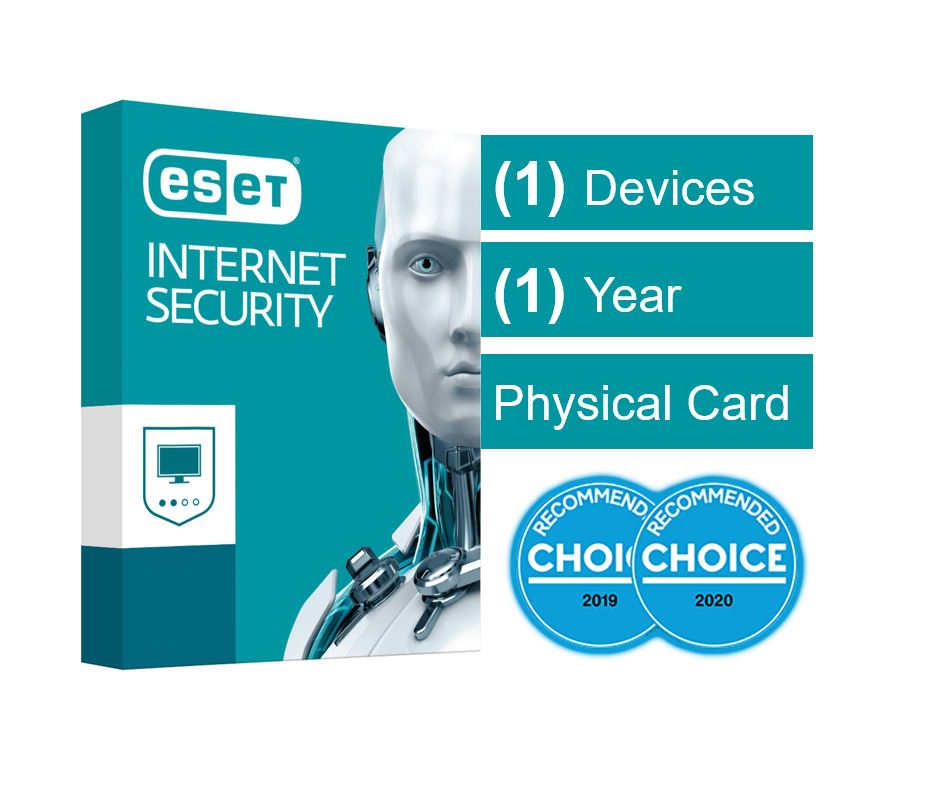 ESET Internet Security (Advanced Protection) OEM 1 Device 1 Year Download - Includes 1x Physical Printed Download Card