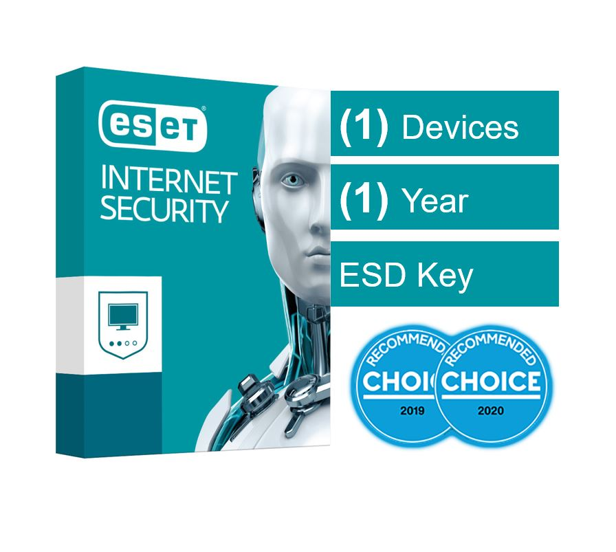 ESET Internet Security (Advanced Protection) OEM 1 Device 1 Year - ESD Key Only, no Physical Card