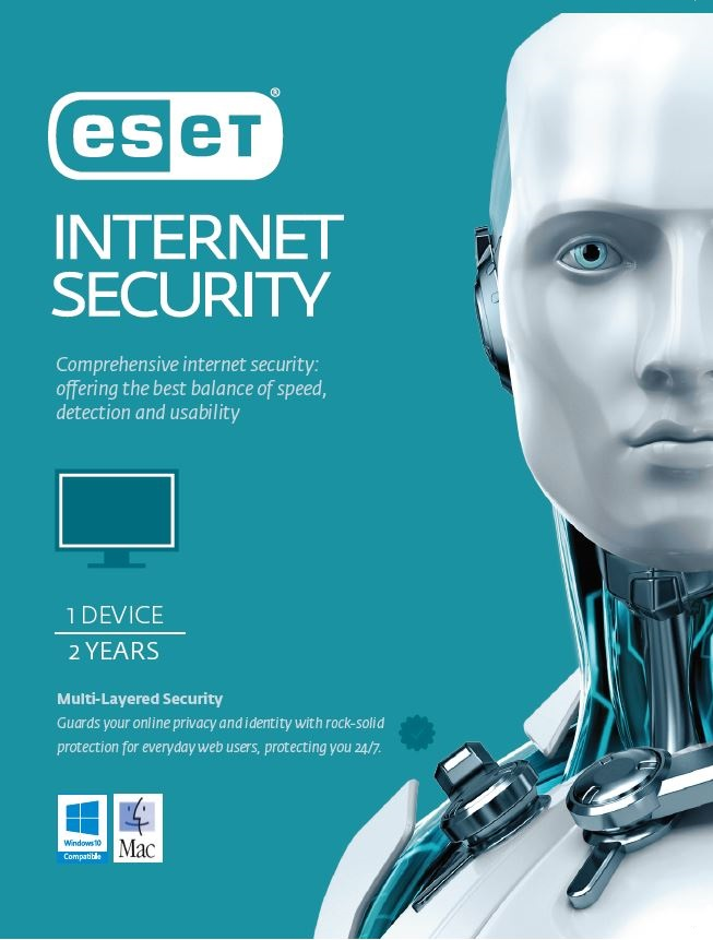 ESET Internet Security 1 Device 2 Years Retail Download Card
