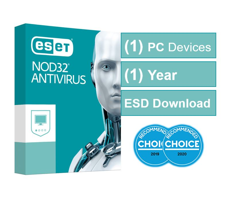 ESET NOD32 Antivirus (Essential Protection) OEM 1 Device 1 Year ESD Key Only, no Physical Card