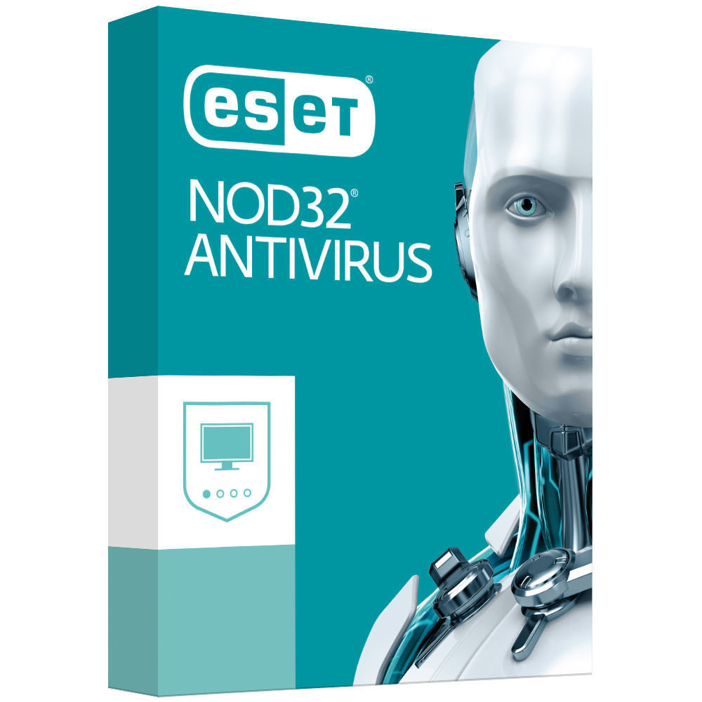 ESET NOD32 Antivirus (Essential Protection) 3 Devices 1 Year - Includes 1x Physical Printed Download Card