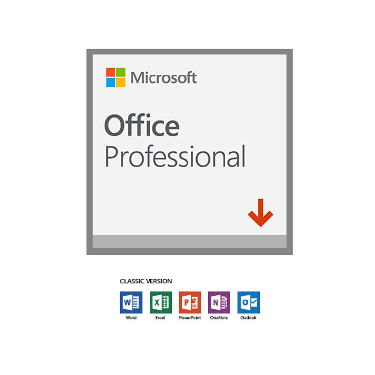 Microsoft Office Professional 2019 (32/64 BIT) 1 User - (ESD) ELECTRONIC LICENSE. Word, Excel, PowerPoint, Outlook, OneNote, Publisher, Access