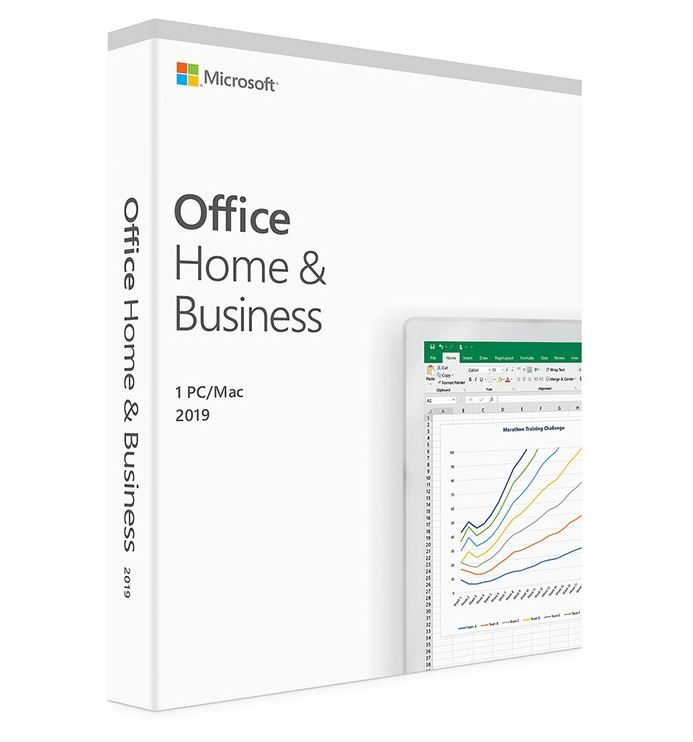 Microsoft Office Home and Business 2019 Medialess - 1 User for PC  Mac