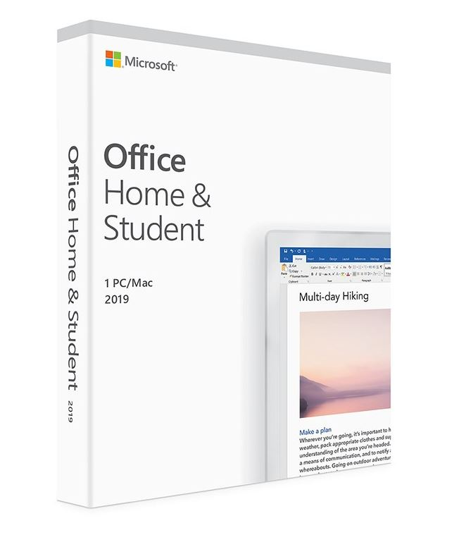 Microsoft Office Home and Student 2019 English Medialess 1 User for PC  Mac - (Replaces 79G-05097)