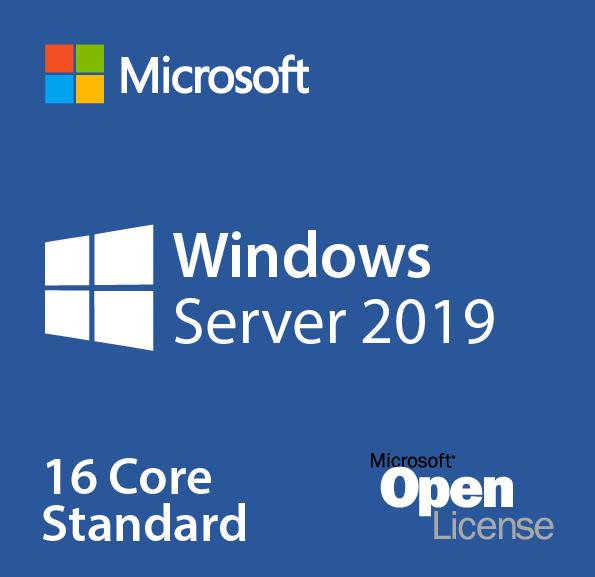 Microsoft Windows Server Standard CORE 2019, OLP 16 Licenses No Level Core Licence (16 Core Per SKU)