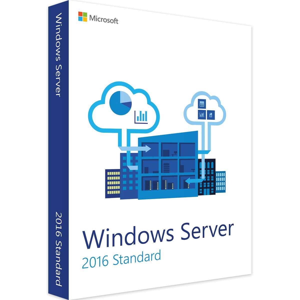 Microsoft Windows Server Standard 2016 16 Core - Leader Version