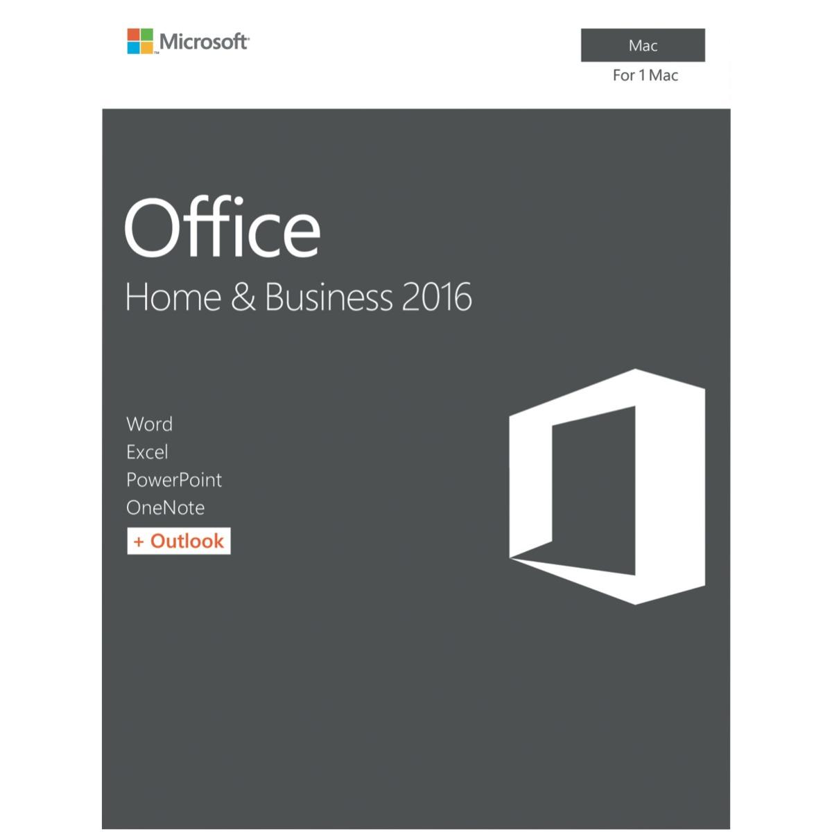 Microsoft Office Mac Home & Business 2016 - No DVD Retail Box (LS) > SMS-OFHB2019-ML