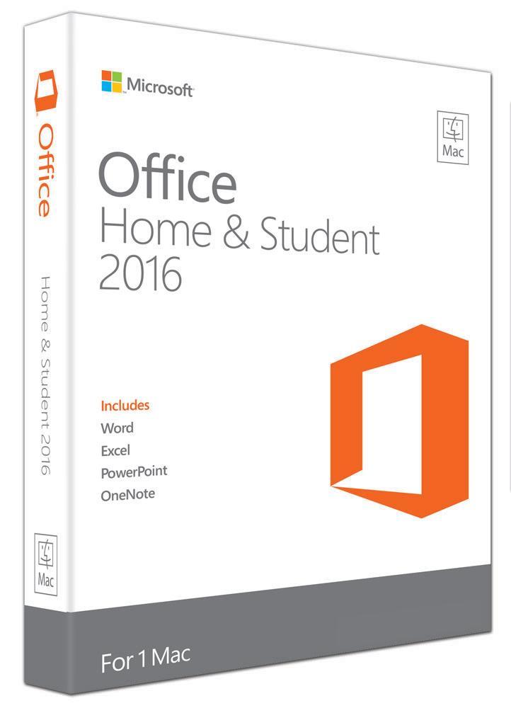 Microsoft Office Mac Home & Student 2016- No DVD Retail Box (LS)