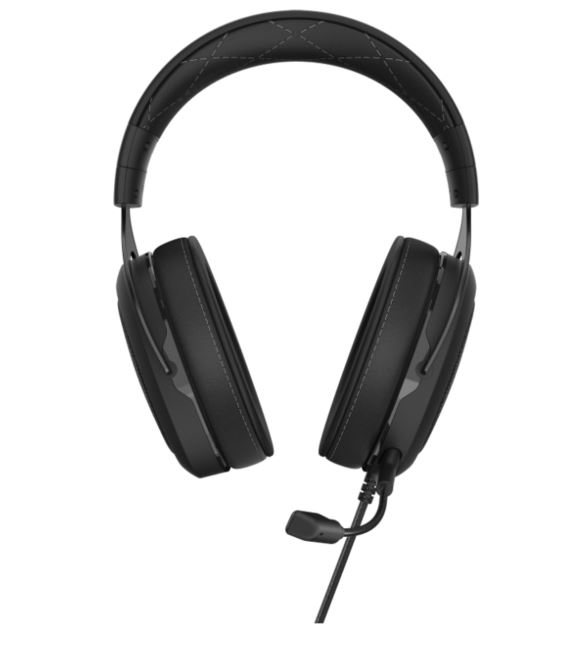 Corsair HS60 PRO Carbon STEREO 7.1 Surround, memory foam, Discord Certified, PC and Console compatible Gaming Headset