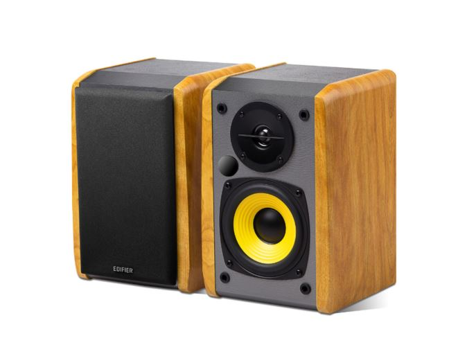 Edifier R1010BT - 2.0 Lifestyle Bookshelf Bluetooth Studio Speakers Black - 3.5mm AUX/RCA/BT/Connects 2 Bluetooth devices/Built-in amplifier BROWN