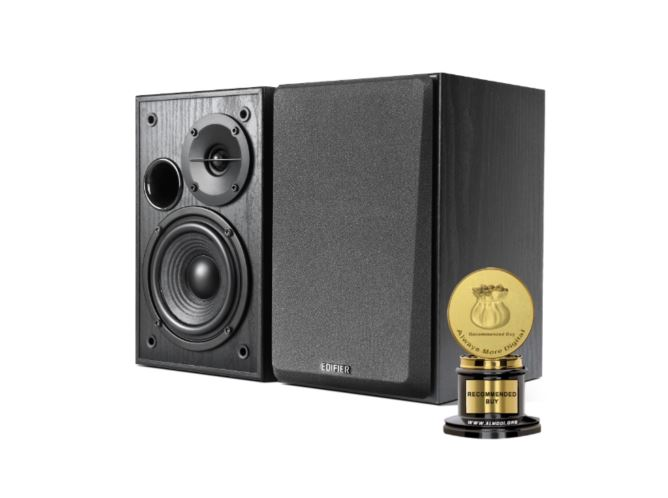 Edifier R1100 Active Studio Bookshelf Speaker Set - Classic Design and Build Quality, Dual PCA unout to Connect to Multiple Audio Sources BLACK