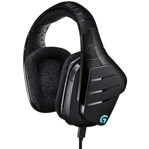 Logitech G633 Artmeis Spectrum RGB 7.1 surround Headset RGB Lighting Custom sound profiles Multi-source audio mixing Noise cancelling mic