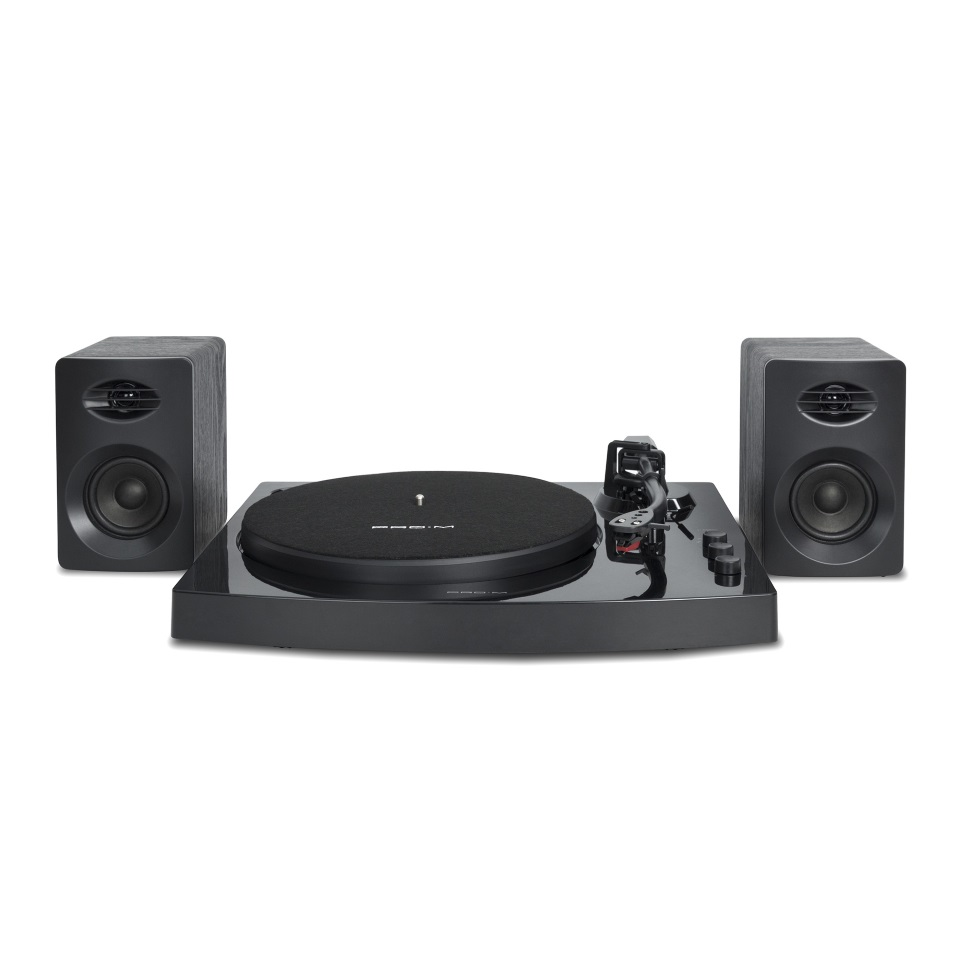 mbeat® Pro-M Bluetooth Stereo Turntable System (Black)