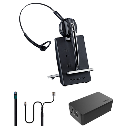 Sennheiser D10 Headset Bundle to Suit HTEK IP Phones, D10PHONE + EHS30 + Y-Cable