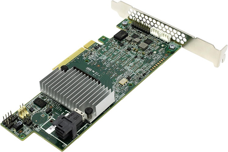 Intel 4 Port 12GBs LSI3108 SAS/SATA Controller, 1GB Cache, No Cable