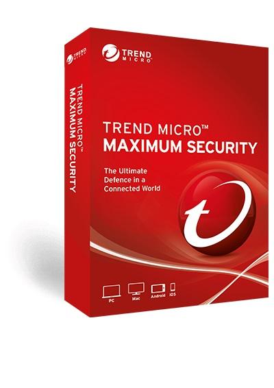 Trend Micro Maximum Security (1-5 Devices) 12mth RetailMini Box