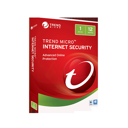 Trend Micro Internet Security 2017 (1 Device) 1 Year Retail (No CD Media)