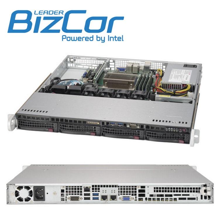 BizCor 1RU Server , Intel Xeon E3-1225V6, 16GB DDR4,  1 x 2TB 3.5' HDD ,150GB NVME M.2,  4 x 3.5' HS HDD Bays, 350w PSU, 3 Year Onsite NBD Warranty