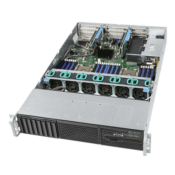 Intel 2U Rackmount Server,  Intel Xeon Silver 4110 (1/2)  8 x 2.5' HDD HS, 32GB DDR4 ECC (2/24) ,VROC, NVME,  2x 10GbE, 1300W RPSU (2/2), RMM, 3 Yr