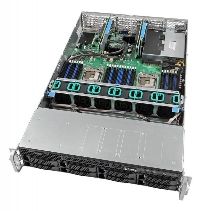 Intel 2U Rackmount Server,  Intel Xeon Silver 4110 (1/2)  8x 2.5'/3.5' HDD, 32GB DDR4 ECC (1/24) , 2x 10GbE, 1100W PSU (1/2), RMM, HW Raid, 3 Year War