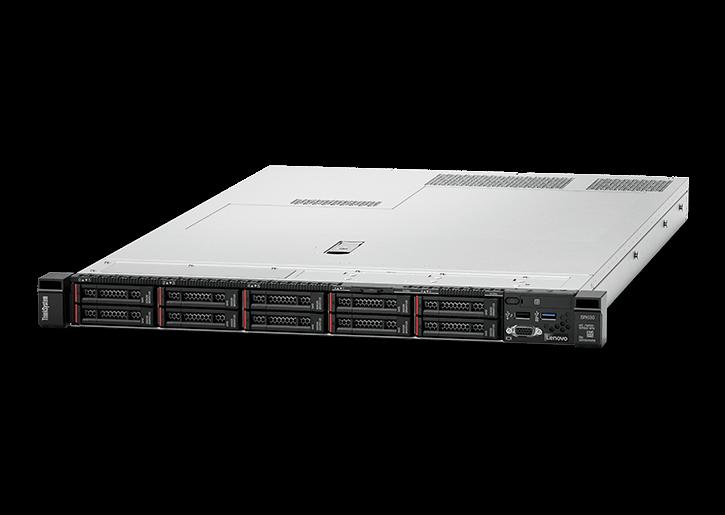 LENOVO ThinkSystem SR630 1U Rack Server, 1xIntel Xeon Silver 4208, 8 x 2.5' HS HDD Bays, 1x16GB 2Rx8, HW RAID 930-8i PCIe, 1x750W, 3 Year NBD