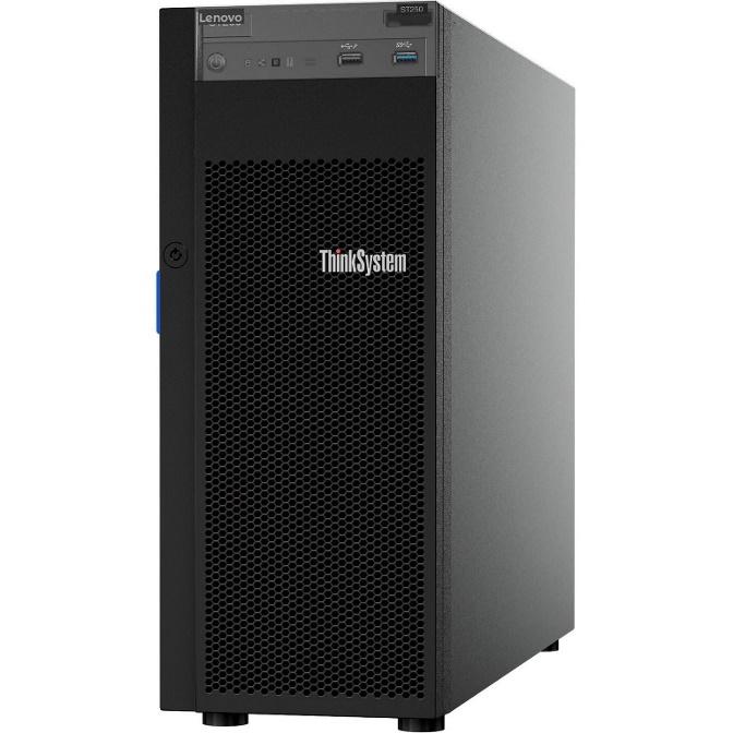 LENOVO ThinkSystem ST250 4U Tower Server, 1 x Intel Xeon E-2144G 3.6GHz, 1x16GB 2Rx8, SW RD, 4 x 3.5' HS Bays 1 x 550W PSU, 3 Year NBD
