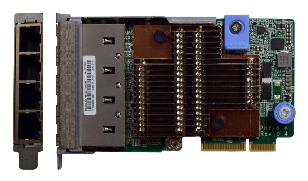LENOVO ThinkSystem 1Gb 4-port RJ45 LOM For SR650/SR630