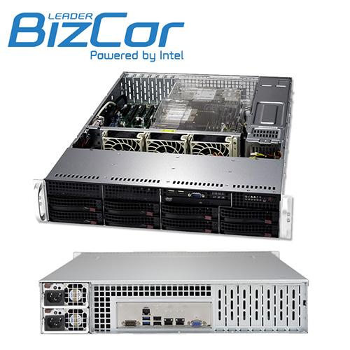 BizCor 2RU Server , Intel Xeon Silver 4110, 32GB DDR4 ECC ,1 x 240GB 2.5' SDD,  8 x 3.5' HS HDD Bays, 1000w RPSU, 3 Year Onsite NBD Warranty
