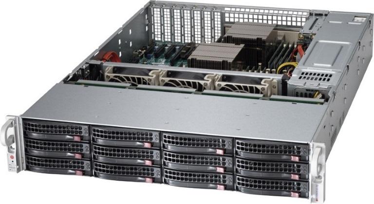 Supermicro SuperServer 6029P-E1CR12H, 2U Rackmount, Dual Socket LGA3647, 16x DIMM,, 2 x 10GBe, IMPI, 12 x 3.5' HDD HS,  LSI3108 HW, 1200w RPSU