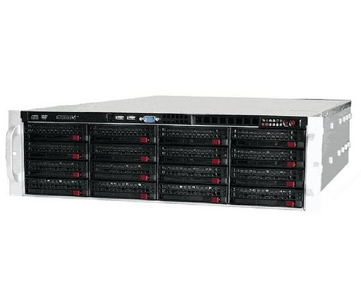 Supermicro 3RU Rackmount Server Chassis,  16 x 3.5' Hotswap HDD, Direct Attached SAS2 Backplane , 800W Redundant Gold PSU