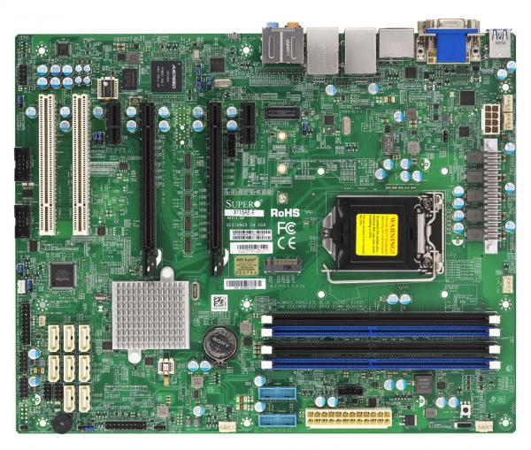 Supermicro X11SAE-F Server Motherboard, ATX, Intel C236, LGA 1151, E3-1200 v5/v6, 4x DDR4-2400MHz, 1x i219LM GBe Lan, 2x PCIe x16, 2x PCIe x12, M.2