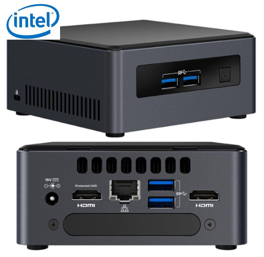 Intel NUC mini PC i5-7300U 3.5GHz 2xDDR4 SODIMM M.2  2.5' SSD 2xHDMI 2xDisplays GbE LAN WiFi BT 4xUSB3.0 vPro 24/7 for Digital Signage POS