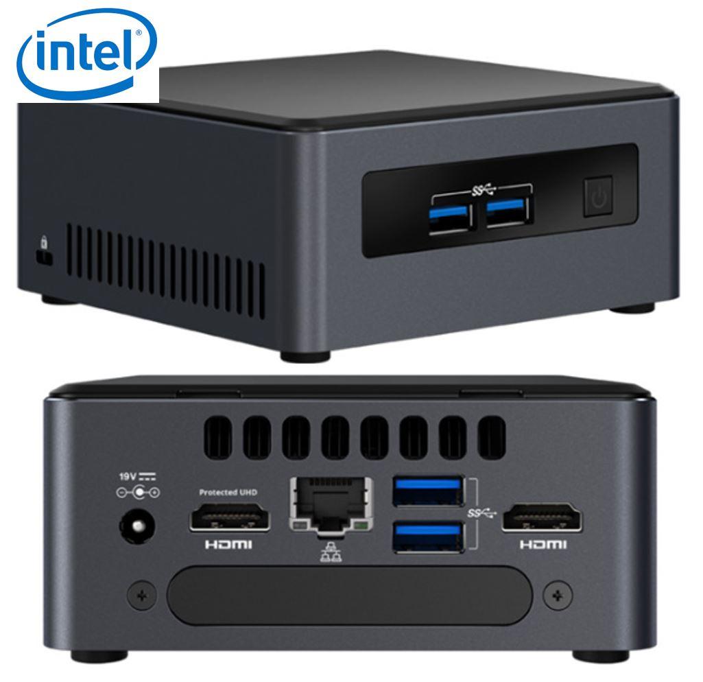 Intel NUC mini PC i7-8650U 4.2GHz 2xDDR4 SODIMM M.2  2.5' SSD 2xHDMI 2xDisplays GbE LAN WiFi BT 4xUSB3.0 vPro for DS POS ~SYI-BLKNUC7I7DNK4E