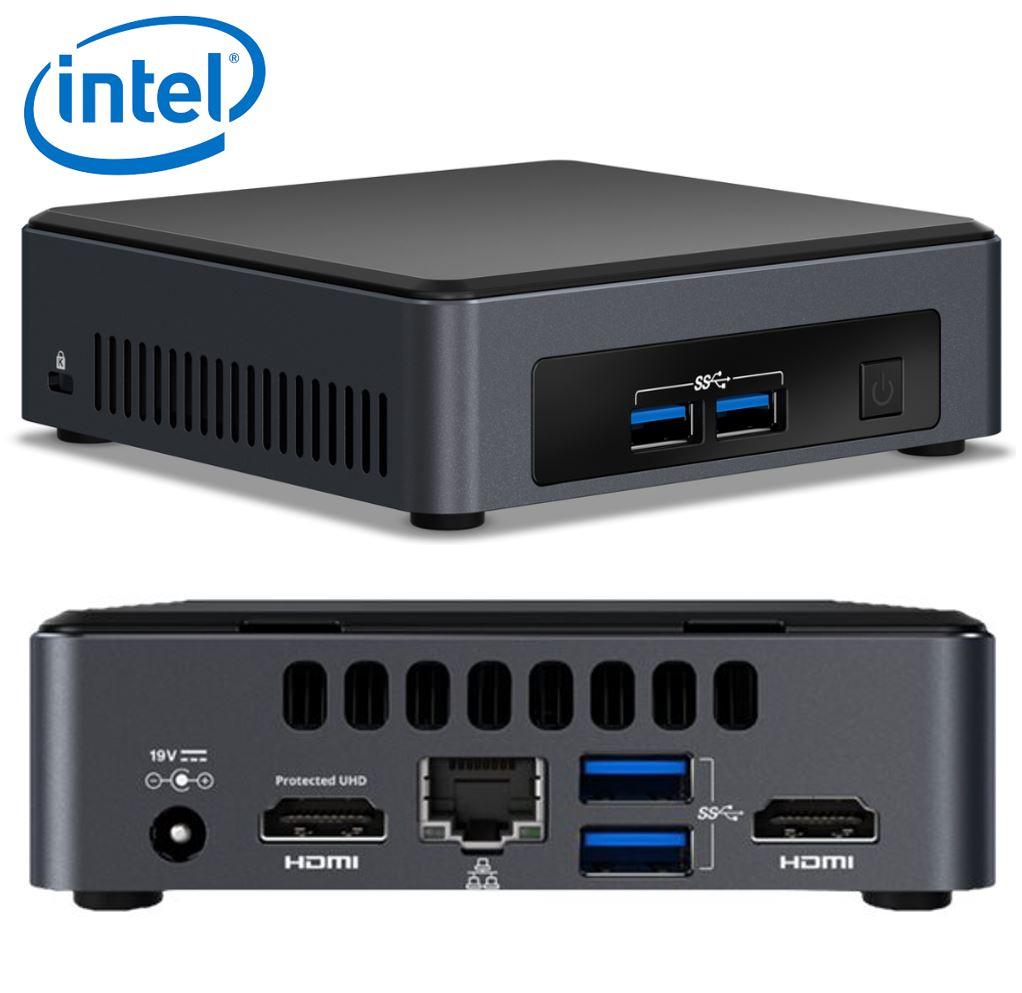 Intel NUC mini PC i7-8650U 4.2GHz 2xDDR4 SODIMM M.2 SSD 2xHDMI 2xDisplays GbE LAN WiFi BT 4xUSB3.0 vPro for DS POS ~SYI-BLKNUC7I7DNH4E