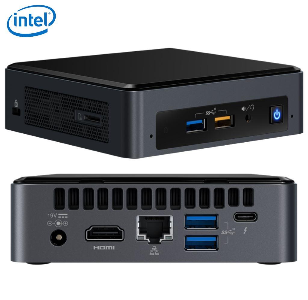Intel NUC mini PC i3-8109U 3.6GHz 2xDDR4 SODIMM M.2 PCIe SSD HDMI USB-C (DP1.2) 3xDisplays GbE LAN WiFi BT 6xUSB Digital Signage POS