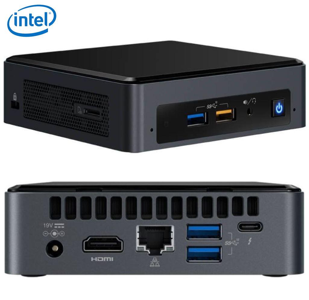Intel NUC mini PC i5-8259U 3.8GHz 2xDDR4 SODIMM M.2 SATA/PCIe SSD HDMI USB-C (DP1.2) 3xDisplays GbE LAN WiFi BT 6xUSB DS POS ~SYI-BOXNUC7I5BNK