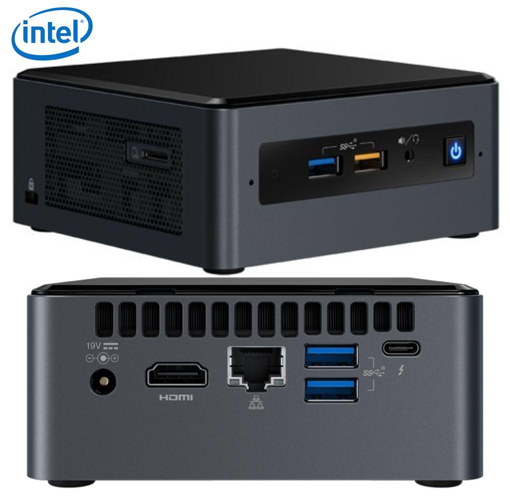 Intel NUC mini PC i7-8559U 4.5GHz 2xDDR4 2.5' HDD M.2 SSD HDMI USB-C (DP1.2) 3xDisplays GbE LAN WiFi BT 5xUSB3.1 No power Cord ~SYI-BOXNUC8I7BEH4