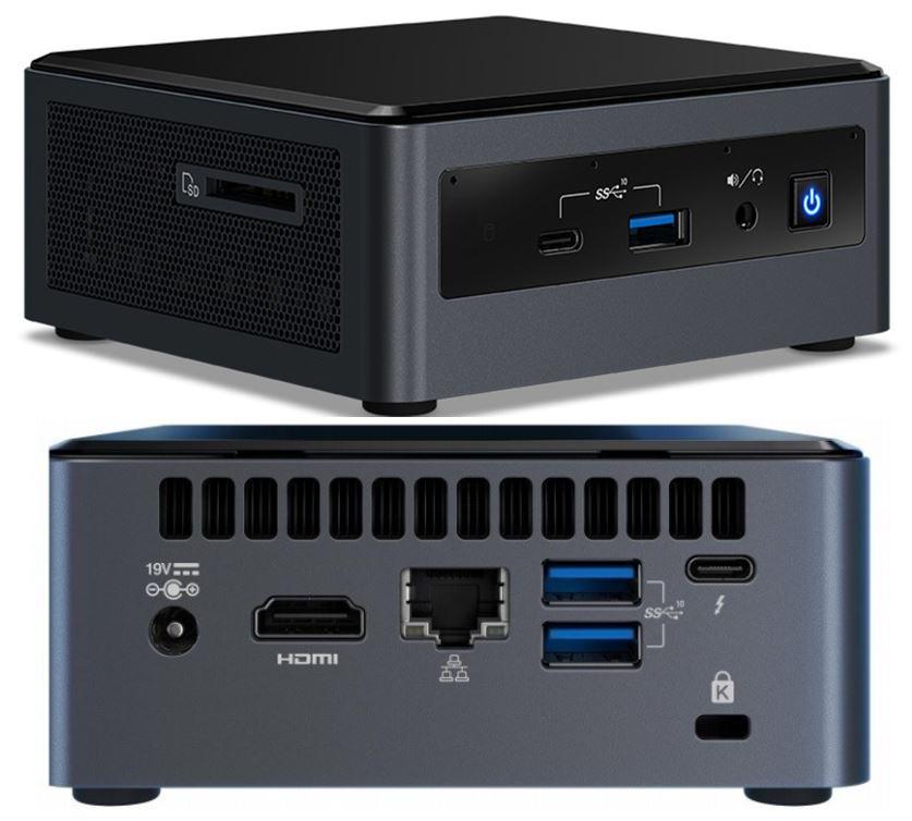 Intel NUC mini PC i7-10710U 4.7GHz 2xDDR4 M.2  2.5' SSD 3xDisplays HDMI USB-C DP GbE LAN WiFi BT VESA Thunderbolt 3 4xUSB3.1 2x USB2